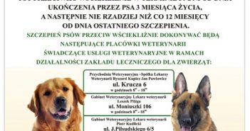Zbiorowa akcja szczepienia psów
