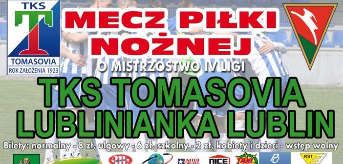Zapraszamy na niedzielny mecz Tomasovii z Lublinianką Lublin