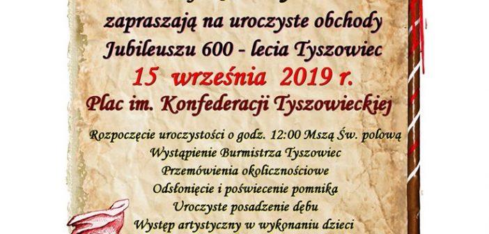 Jubileusz 600 -lecia Tyszowiec