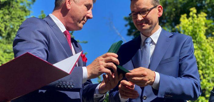 Premier Mateusz Morawiecki z wizytą w Tomaszowie Lubelskim (film)
