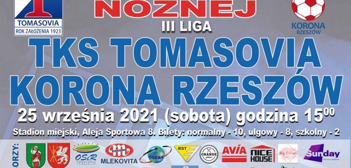 W sobotę Tomasovia zagra z Koroną Rzeszów